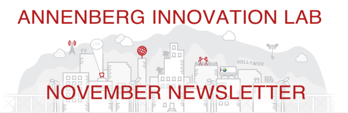 "LA city skyline with the words ""November Newsletter"""